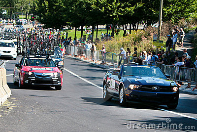 The BMC team car along with a VIP car
