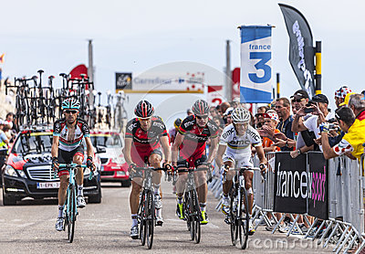 BMC Team Climbing Mont Ventoux Editorial Stock Image