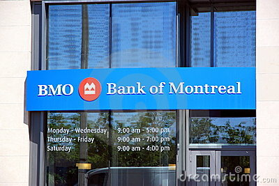 BMO - Bank of Montreal Editorial Photo