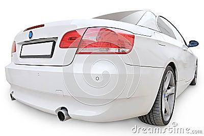 BMW 335i convertible car back corner view