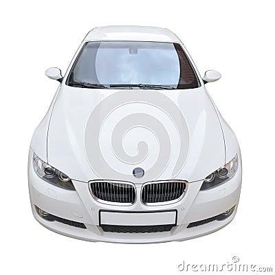 Free BMW 335i White Convertible Car Stock Photo - 7763060