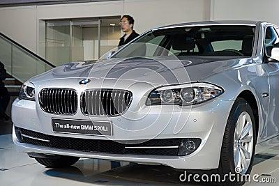 BMW 520Li car on display Editorial Stock Image