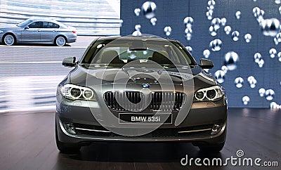 BMW 535i at Geneva International Motor Show, 2010 Editorial Image