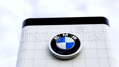 Bmw Automobile Dealership Exterior Stock Video Video