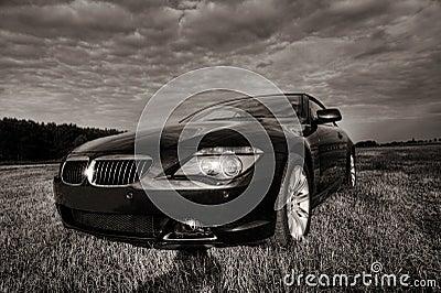 Bmw cabriolet sepia toned