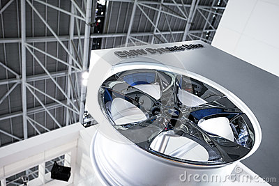 The bmw car wheel hub Editorial Stock Photo