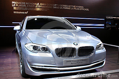 BMW Concept 5 Series at Motor Show 2010, Geneva Editorial Stock Image