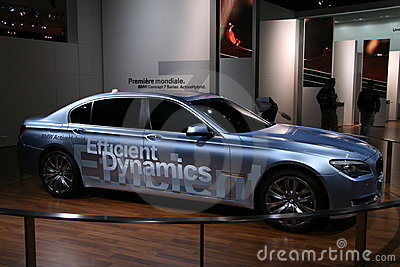 BMW CONCEPT 7 HYBRID DRIVE Editorial Stock Image