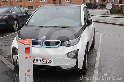 BMW ELECTRIC CAR Editorial Photography