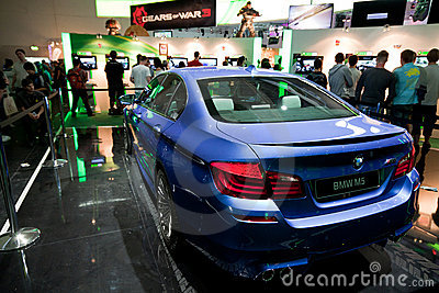 BMW at Forza Motorsport 4 booth Editorial Photography