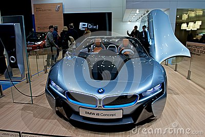 BMW i8 concept car Editorial Stock Photo