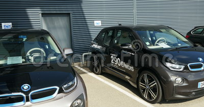 Bmw I3 Electric Car Charging Stock Video Video Of Europe Carbon