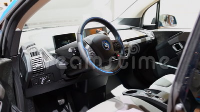 Bmw I3 Five Door Urban Full Electric Car Interior Stock Video