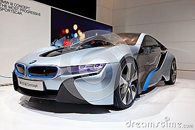 BMW i8 Concept Car Editorial Stock Photo