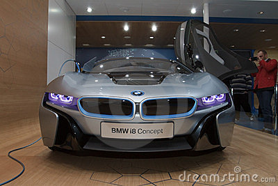 BMW i8 Concept - Geneva Motor Show 2012 Editorial Stock Image