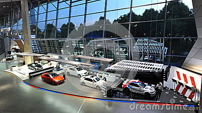BMW M cars and M safety cars on display at BMW World Editorial Photo