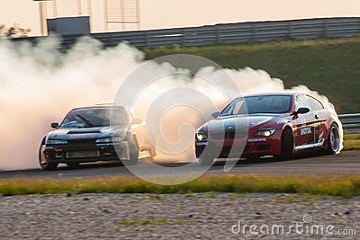 BMW M6 & Nissan Silvia drift cars