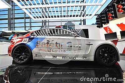 BMW 1M safety car on display at BMW World Editorial Photo