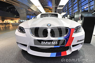 BMW M3 safety car on display at BMW World Editorial Photo