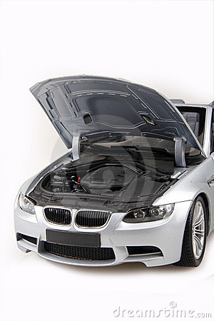 BMW M3 bonnet open