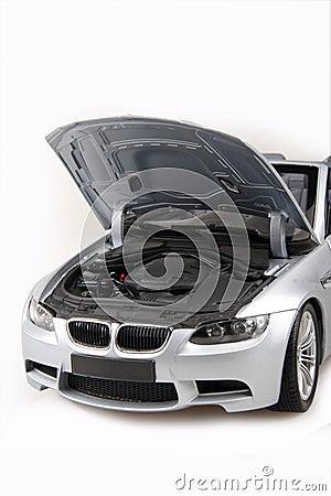 BMW M3 bonnet open