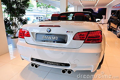 BMW M3 Cabriolet on display Editorial Photo