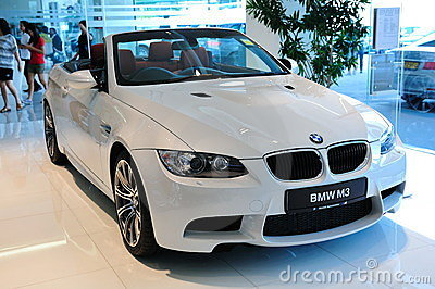 BMW M3 Cabriolet on display Editorial Stock Image
