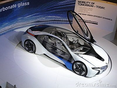 BMW Vision Efficient Dynamics Concept Car Editorial Stock Image