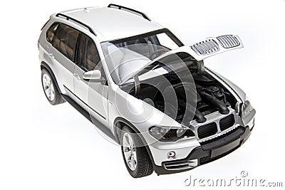 BMW X5 bonnet open