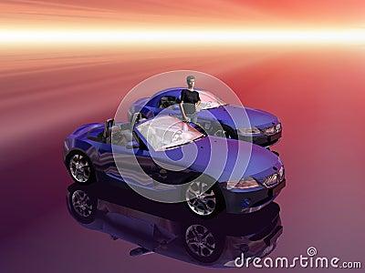 Bmw Z4 2.5 i sportscar with promotion model.