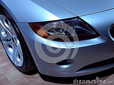 BMW Z4 headlight Stock Photo