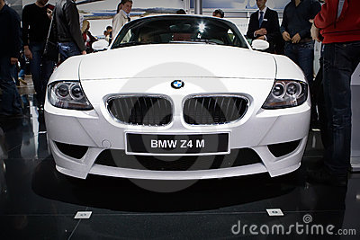 BMW Z4 at Moscow International exhibition Editorial Photography