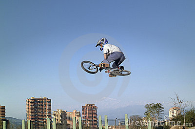 BMX bicycle acrobat