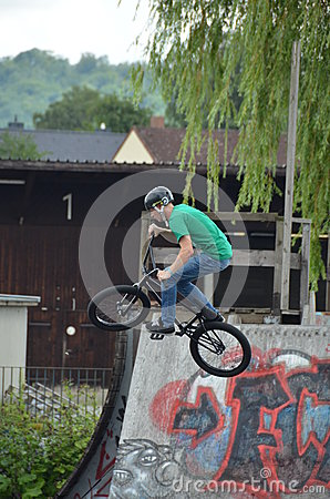 Bmx biker Editorial Stock Image
