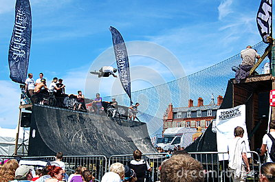 BMX competition at Relentless Boardmasters event Editorial Stock Image