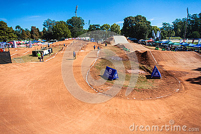BMX Cycle Dirt Track Venue Editorial Photo