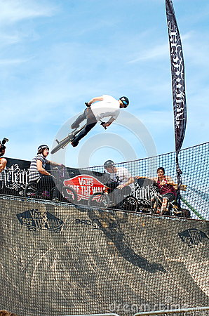 BMX event at Relentless Boardmasters, Newquay Editorial Stock Photo