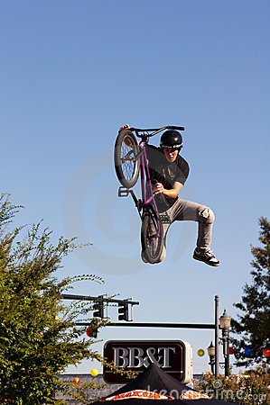 BMX Freestyle Vert Stunt Editorial Stock Image
