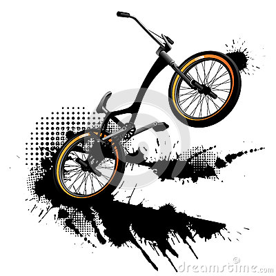 Bmx grunge background