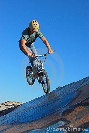 Free BMX Jump Royalty Free Stock Images - 7328229