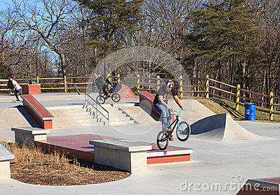 BMX Riders Lake Fairfax Skatepark Reston Virginia Editorial Image