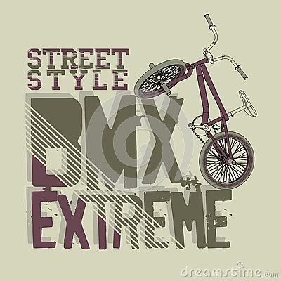 Free BMX Riding Vector Typography Stock Image - 61408741