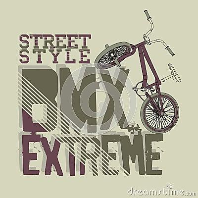 Free BMX Riding Vector Typography Stock Image - 61408741