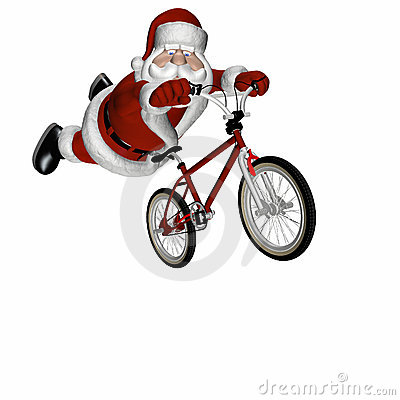 Free BMX Santa 3 Stock Photos - 1650343