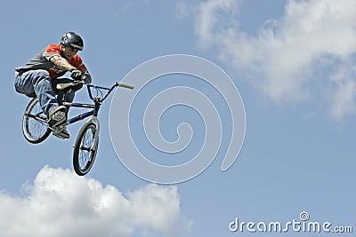 BMX Stunt Biker Hector Restrepo Editorial Stock Image