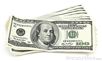 Bündel Hundertdollar Rechnungen