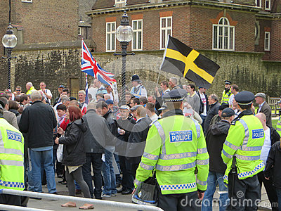 The BNP protest in Londons Westminster 1st June 2013 Editorial Photo
