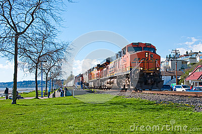 BNSF coal train Editorial Image