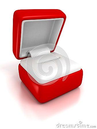 bo te bijoux vide de cadeau sur le fond blanc avec la r flexion photographie stock image. Black Bedroom Furniture Sets. Home Design Ideas