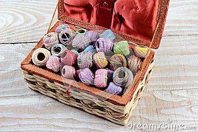 Bo te de couture remplie de fil photo stock image 39798981 for Boite a couture remplie